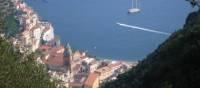 Looking down to Amalfi