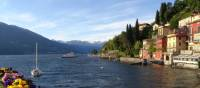 Enjoying the sunshine on Varenna, Lake Como
