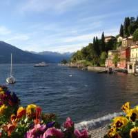 Enjoying the sunshine on Varenna, Lake Como
