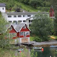 Heimly Pension and boathouses, Flam   John Millen