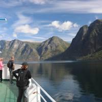 On deck on the Aurlandsfjorden Ferry   John Millen