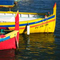 Boats of colour at Collioure