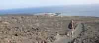 Walking across the lava fields down to Fuencaliente, | John Millen