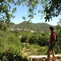 Walking on the Aracena trek   Lucy y Angel
