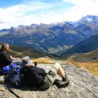 Picnic above Grimentz