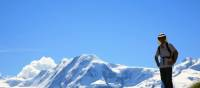 The peaks of Liskamm & Monte Rosa as seen on our walking holiday in the Alps | John Millen