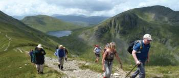Ascending St. Sunday Crag from Grisedale Beck